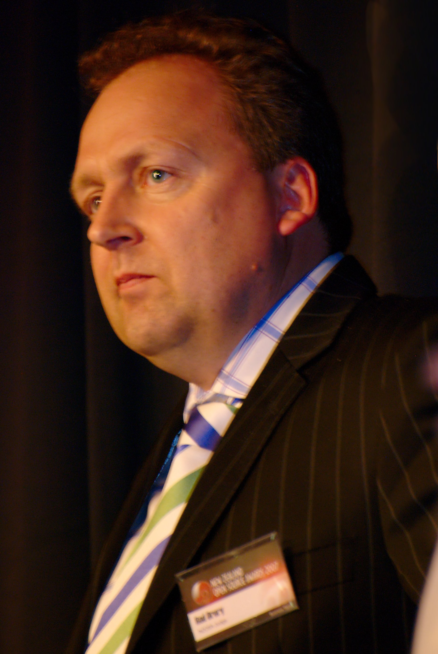 Drury in 2007 at the New Zealand Open Source Awards