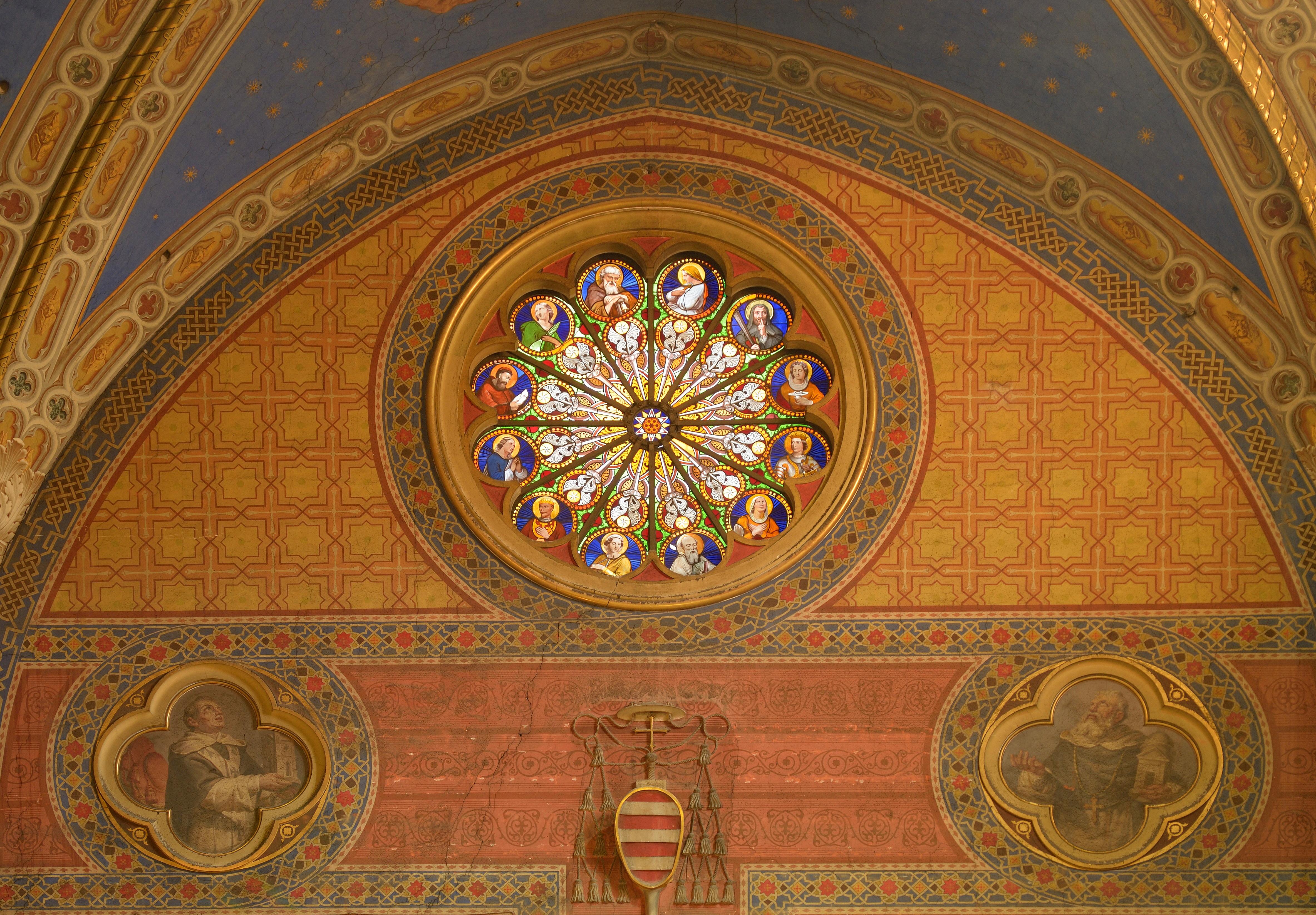 File:Rose window in Santa Maria sopra Minerva.jpg ...