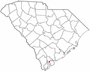 Location of Beaufort, South Carolina