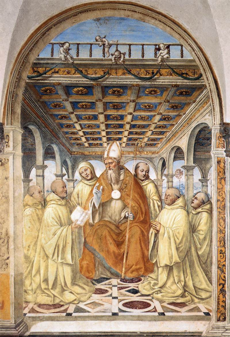 Sodoma - The Confirmation of the Olivetan Order by the Bishop of Arezzo - WGA21555.jpg