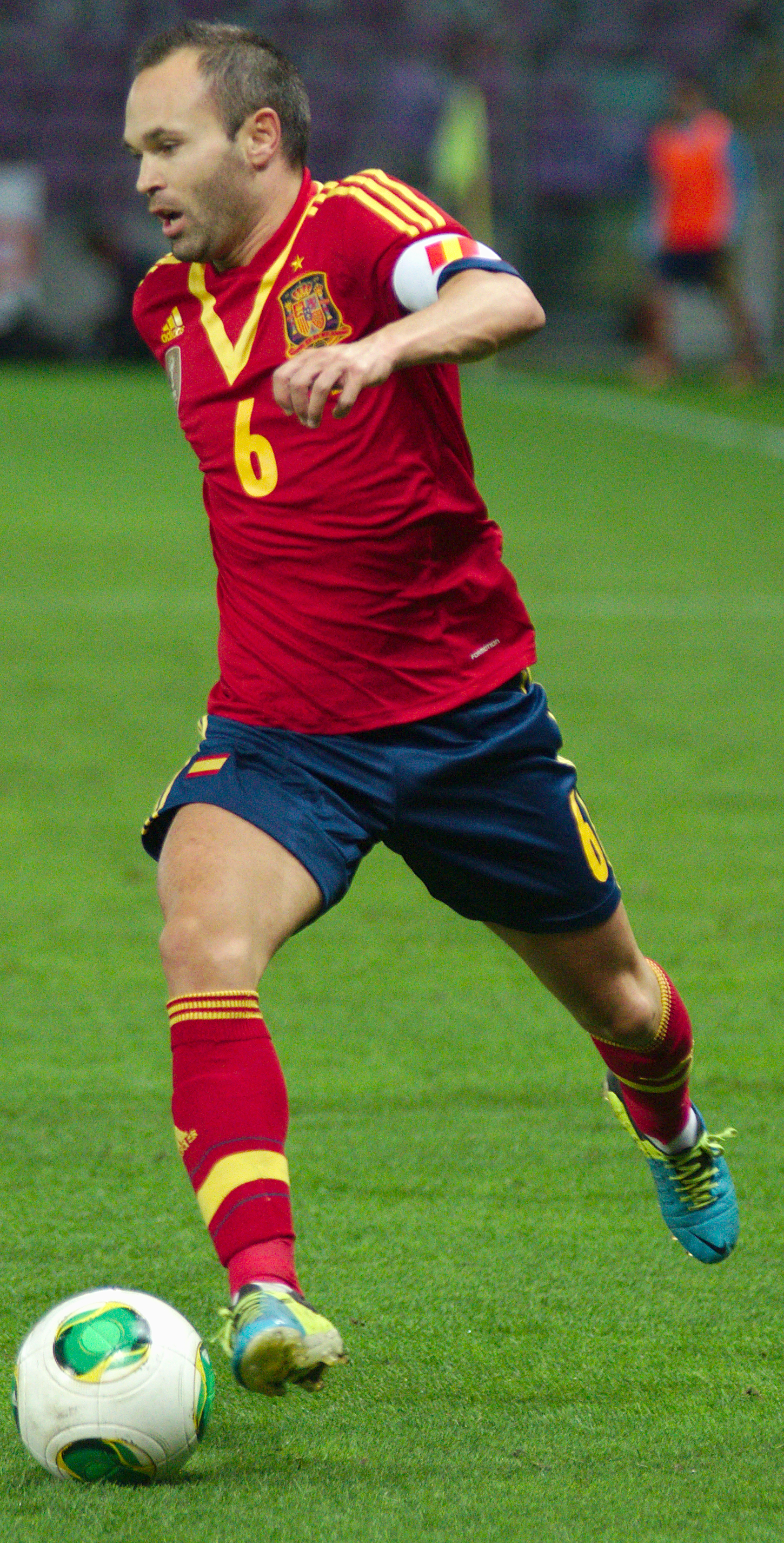 6ab75c88af8 Iniesta playing for Spain in September 2013.