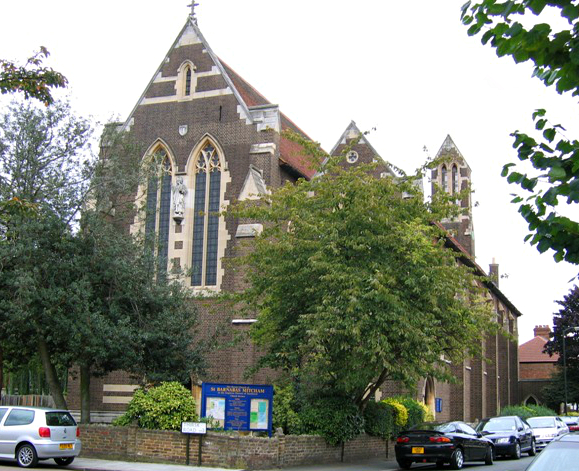 St Barnabas church, Gorringe Park Avenue - geograph.org.uk - 217133