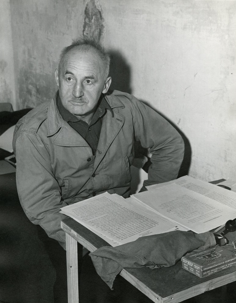 Streicher at the Nuremberg Trials