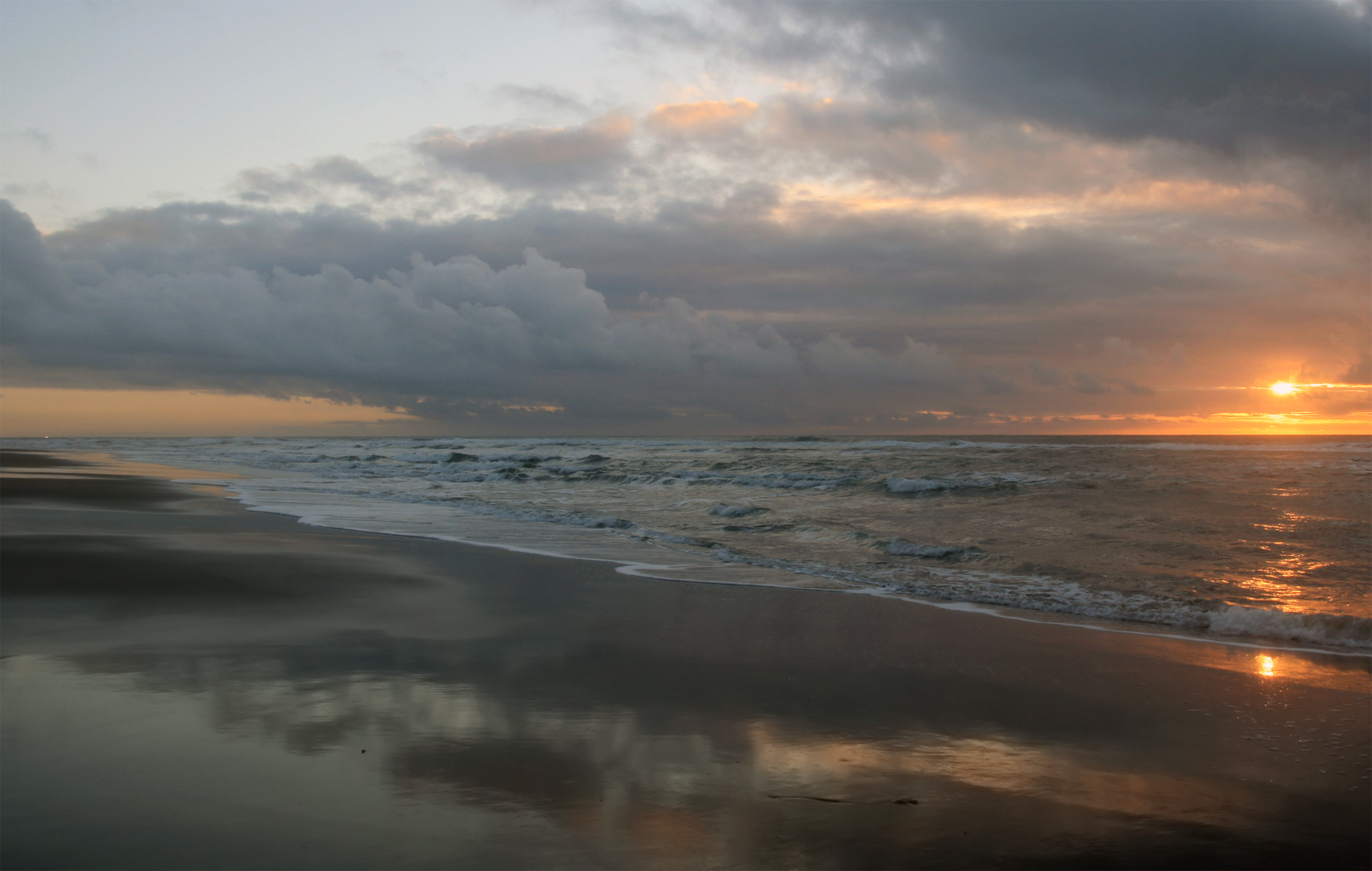 File Sunset At Ocean Beach In San Francisco Jpg