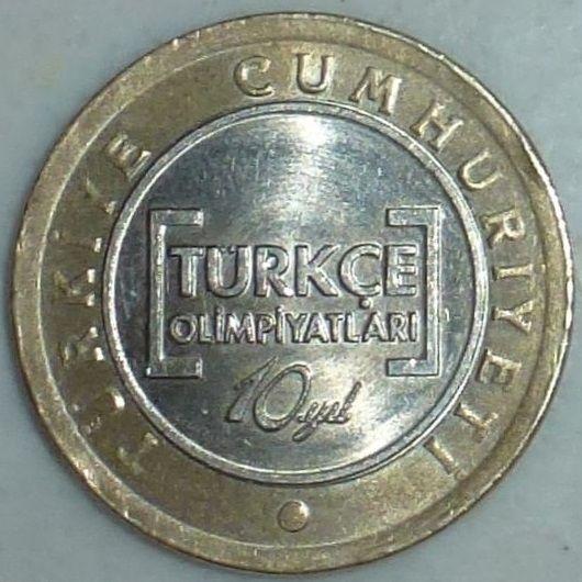 Dateitürkische 1 Lira Münze In Sonderprägungjpg Wikipedia
