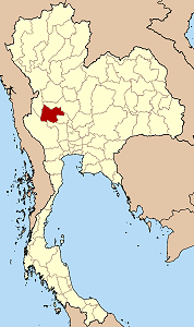 Map of Thailand highlighting Uthai Thani Province}