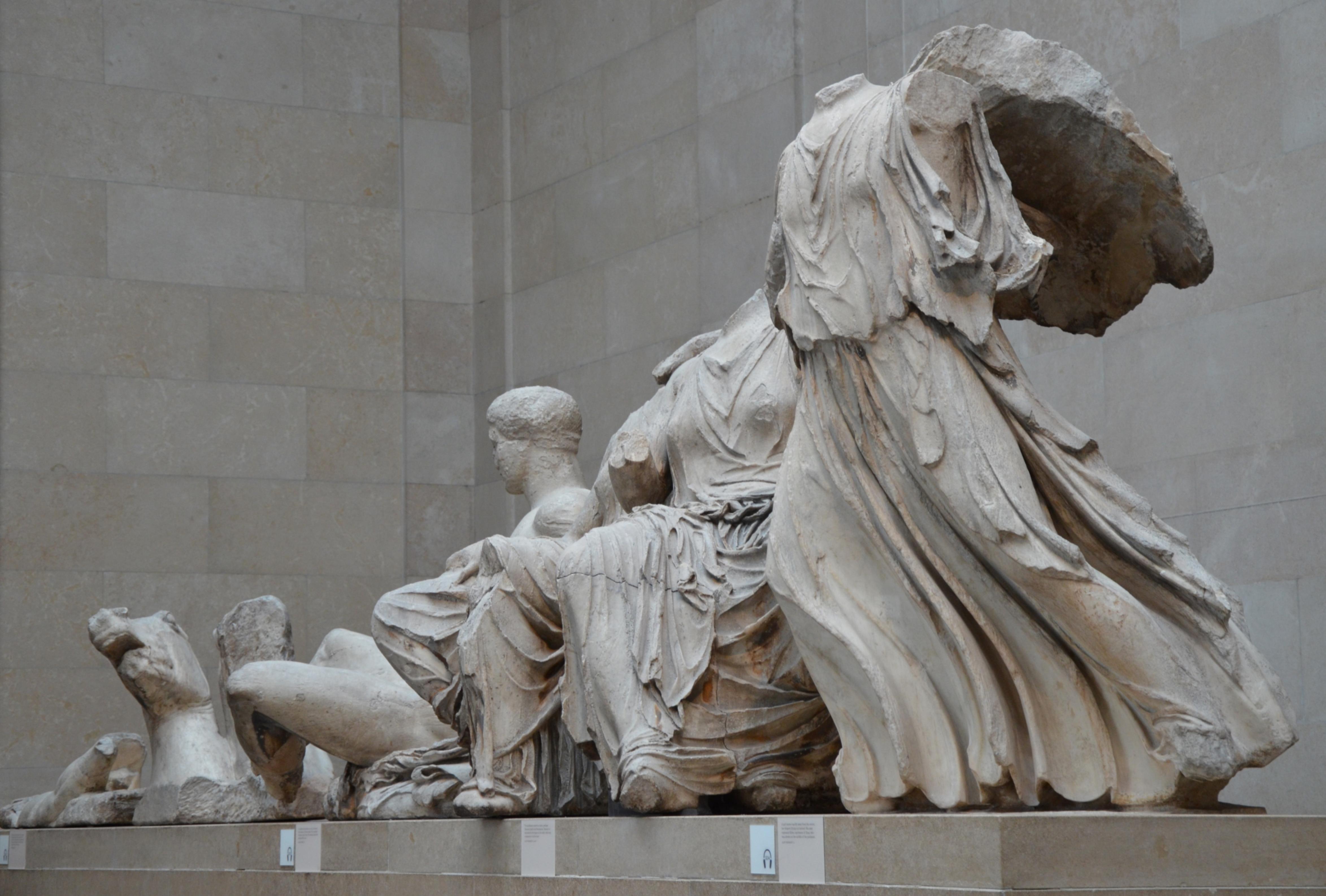 File The Parthenon Sculptures An Oblique View Of The