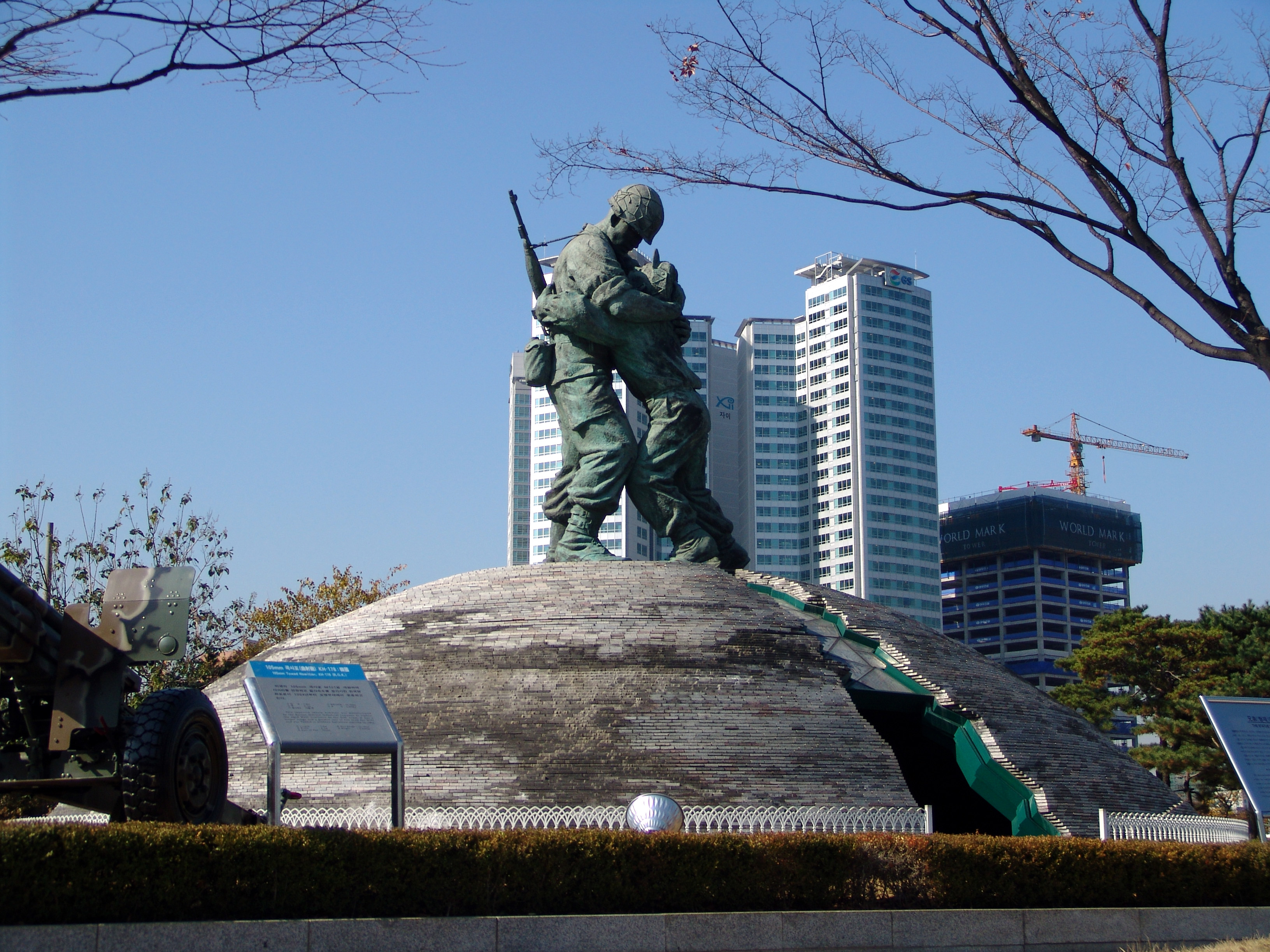 Statue Of Brothers Seoul Two Brothers Who Fought For South And