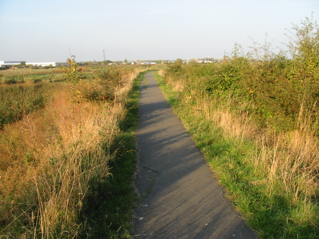 The Stour Valley Walk towards Sandwich Bay - geograph.org.uk - 1003448