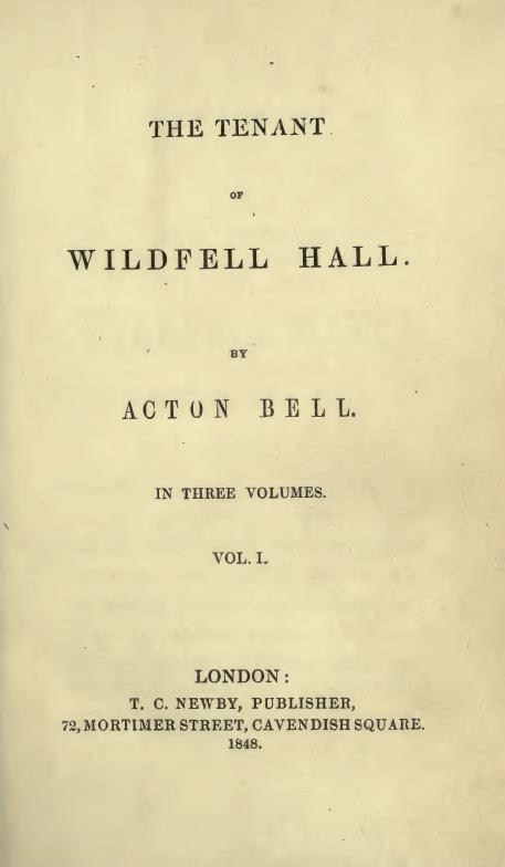 The Tenant Of Wildfell Hall Wikipedia