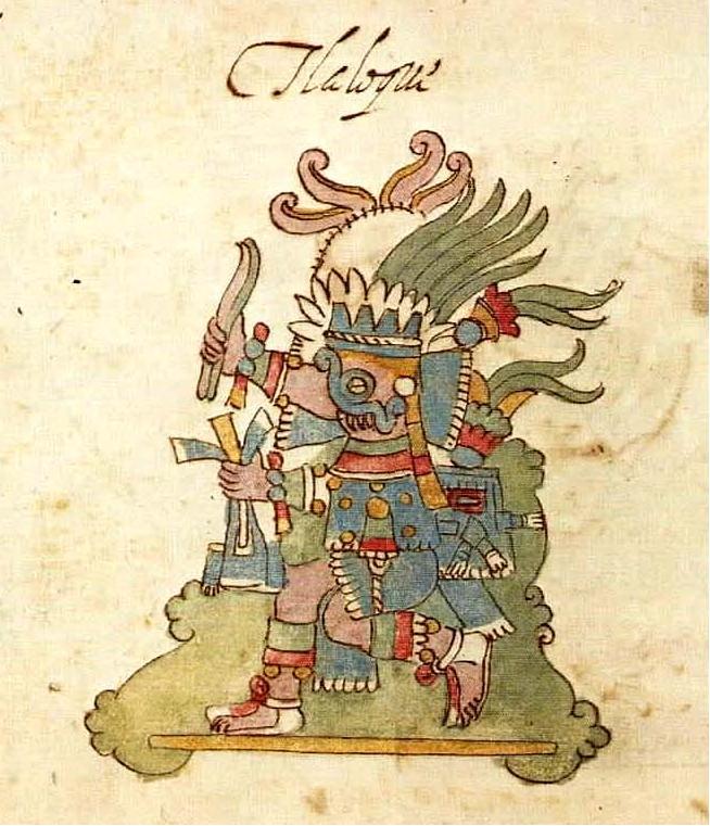 Aztec rain god Tlaloc