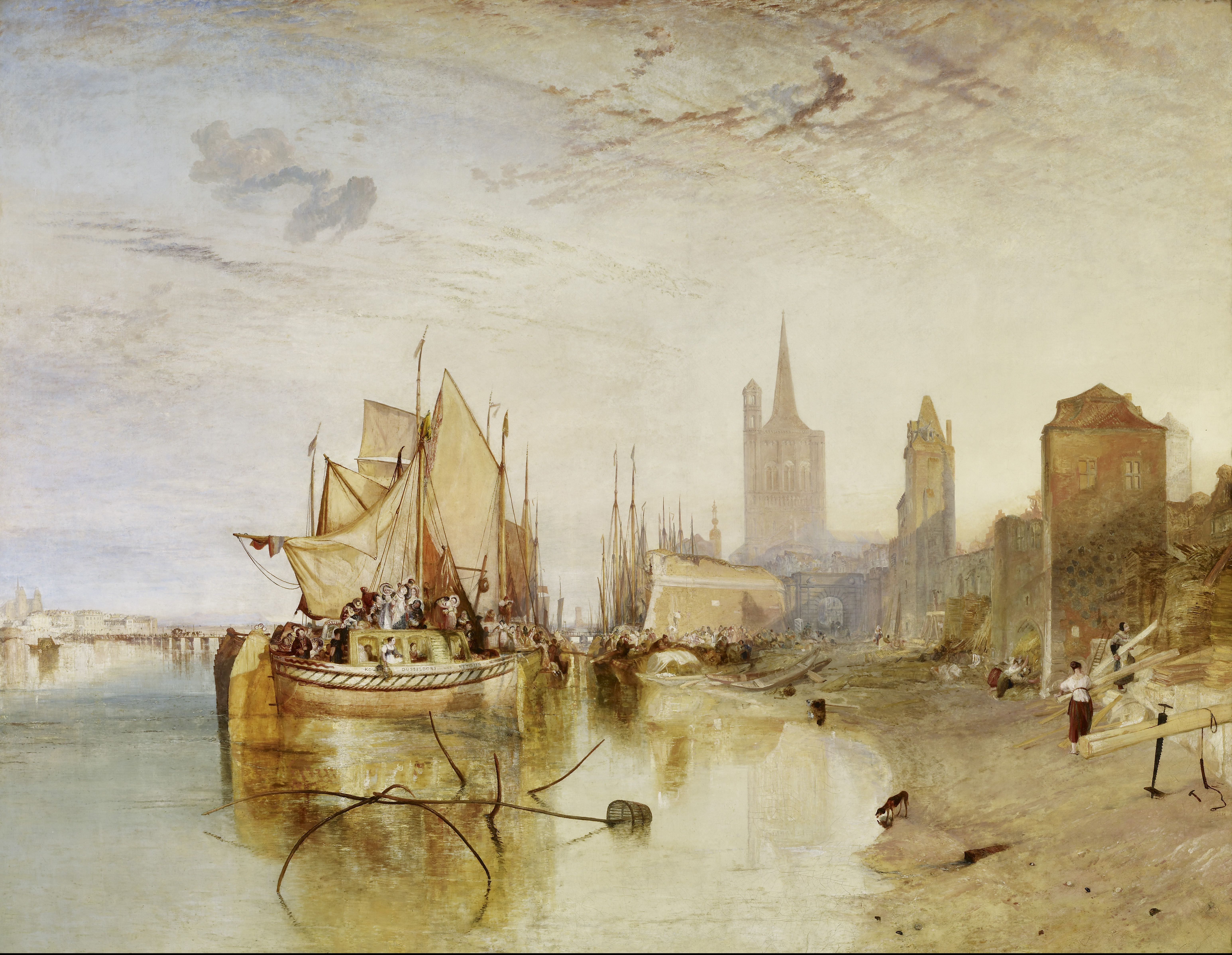 File:Turner Cologne, the Arrival of a Packet-Boat, Evening