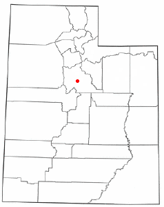 Location of Palmyra, Utah