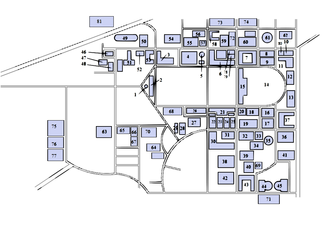 Description University of the Philippines Diliman buildings map.png