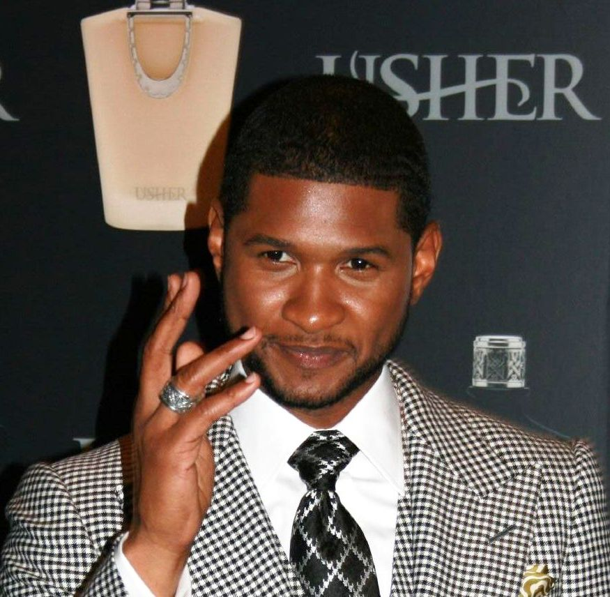 Usher Raymond during a product launching.