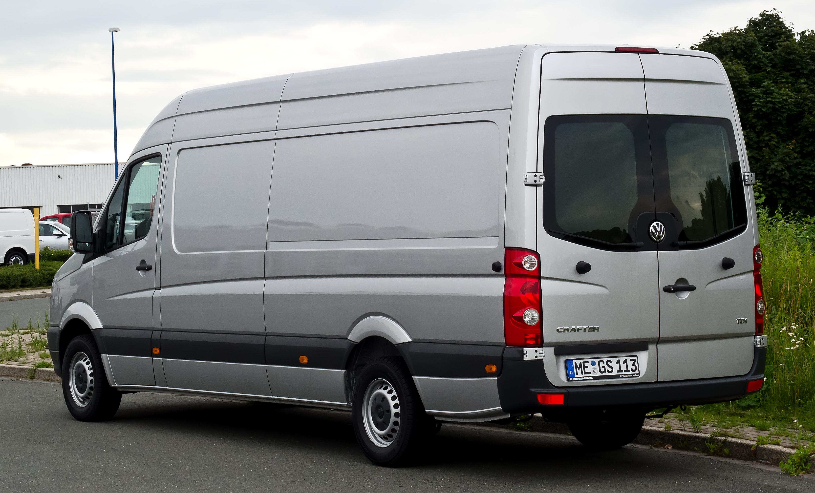 Mercedes Sprinter 2017 >> File:VW Crafter 2.0 TDI (Facelift) – Heckansicht, 9. Juli 2012, Velbert.jpg - Wikimedia Commons