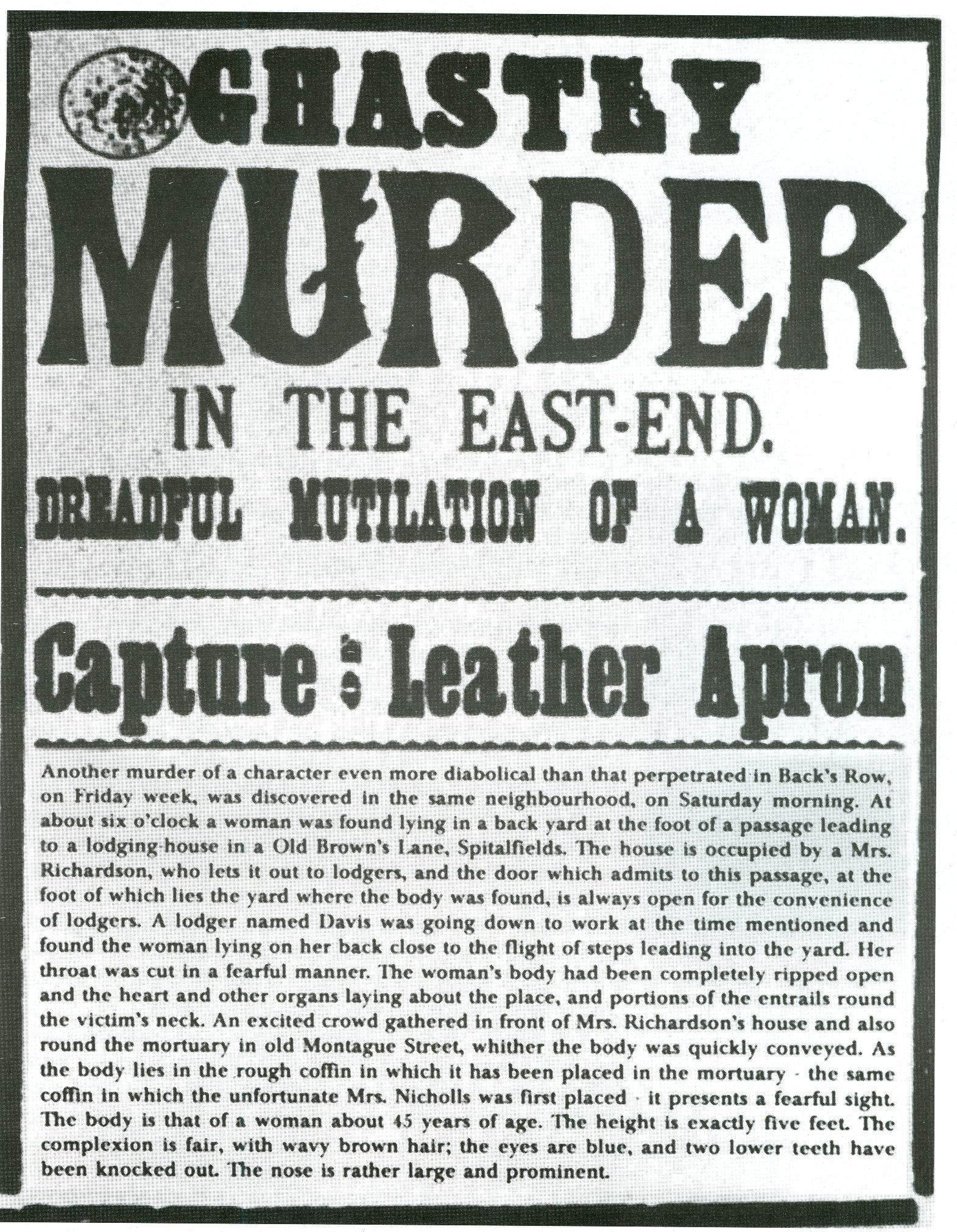 White apron london - Jack The Ripper Wikipedia The Free Encyclopedia