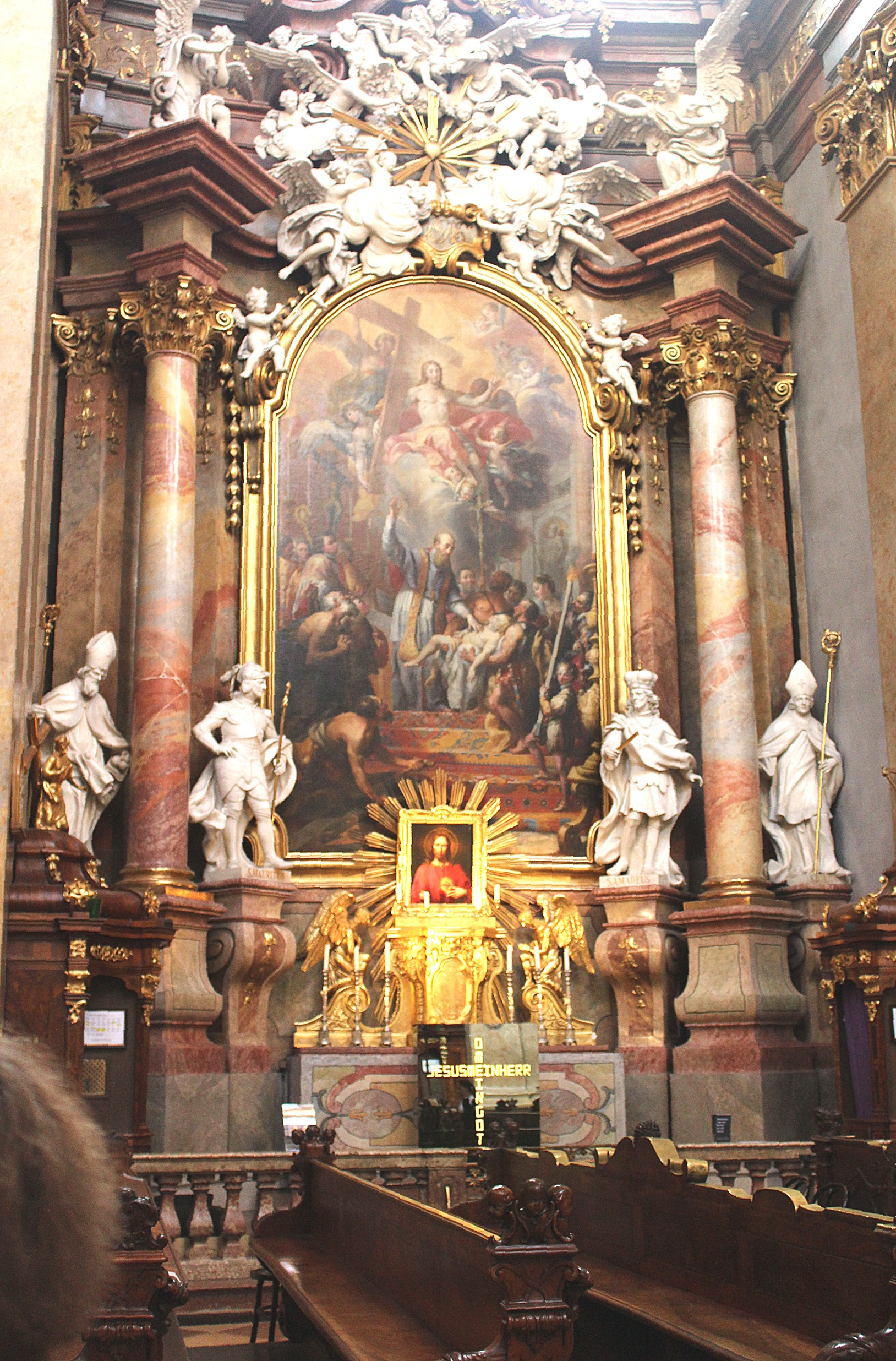 Filewien Innenstadt Peterskirche Altar Des Hl Franz Von Sales
