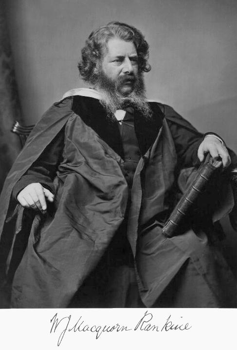 W. J. M. Rankine born, 1820 (d. 1872).