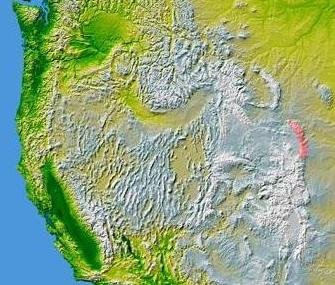 Laramie Mountains Wikipedia - Map of us mountain ranges and rivers