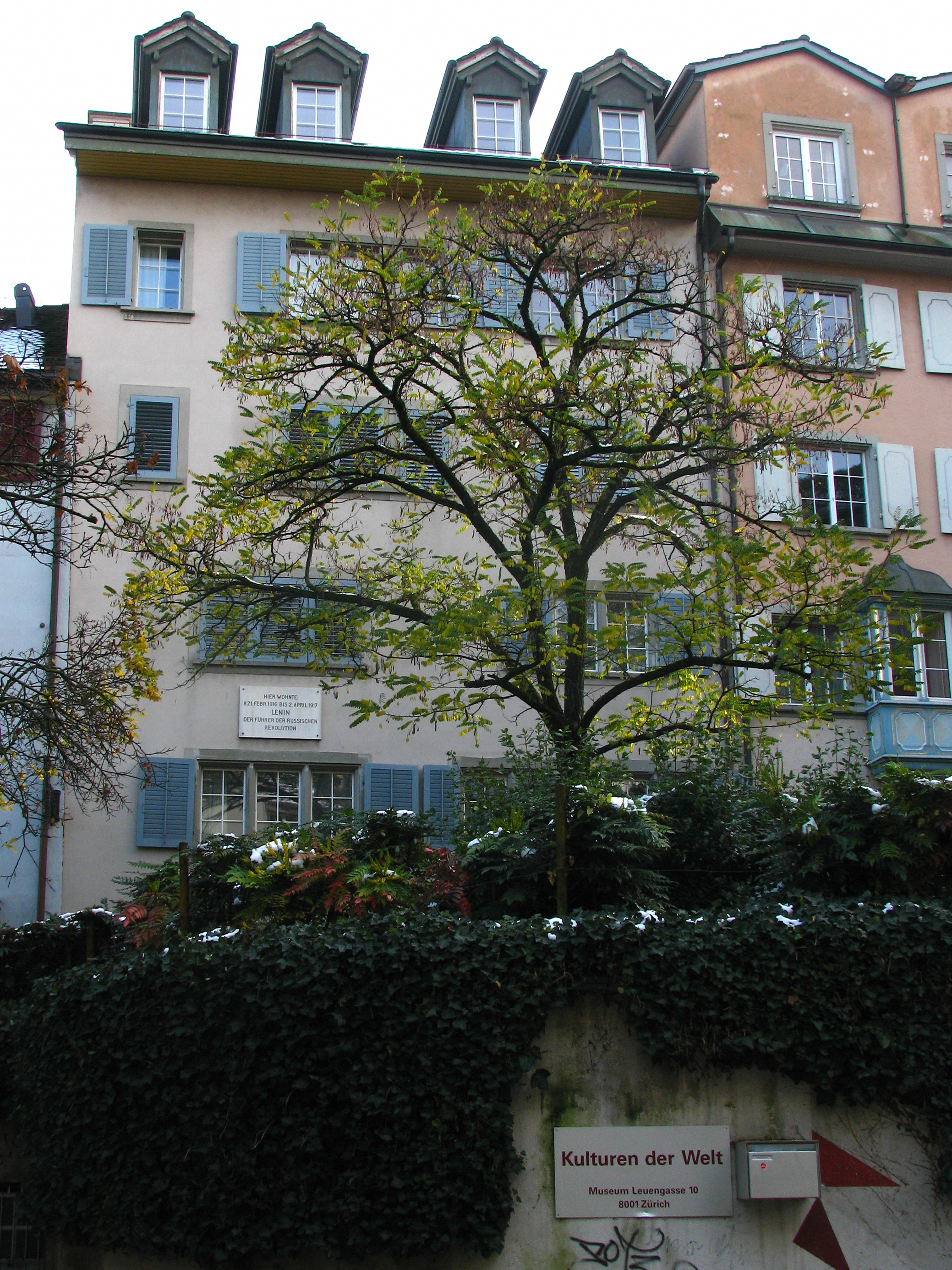 Where Lenin lived in Zürich