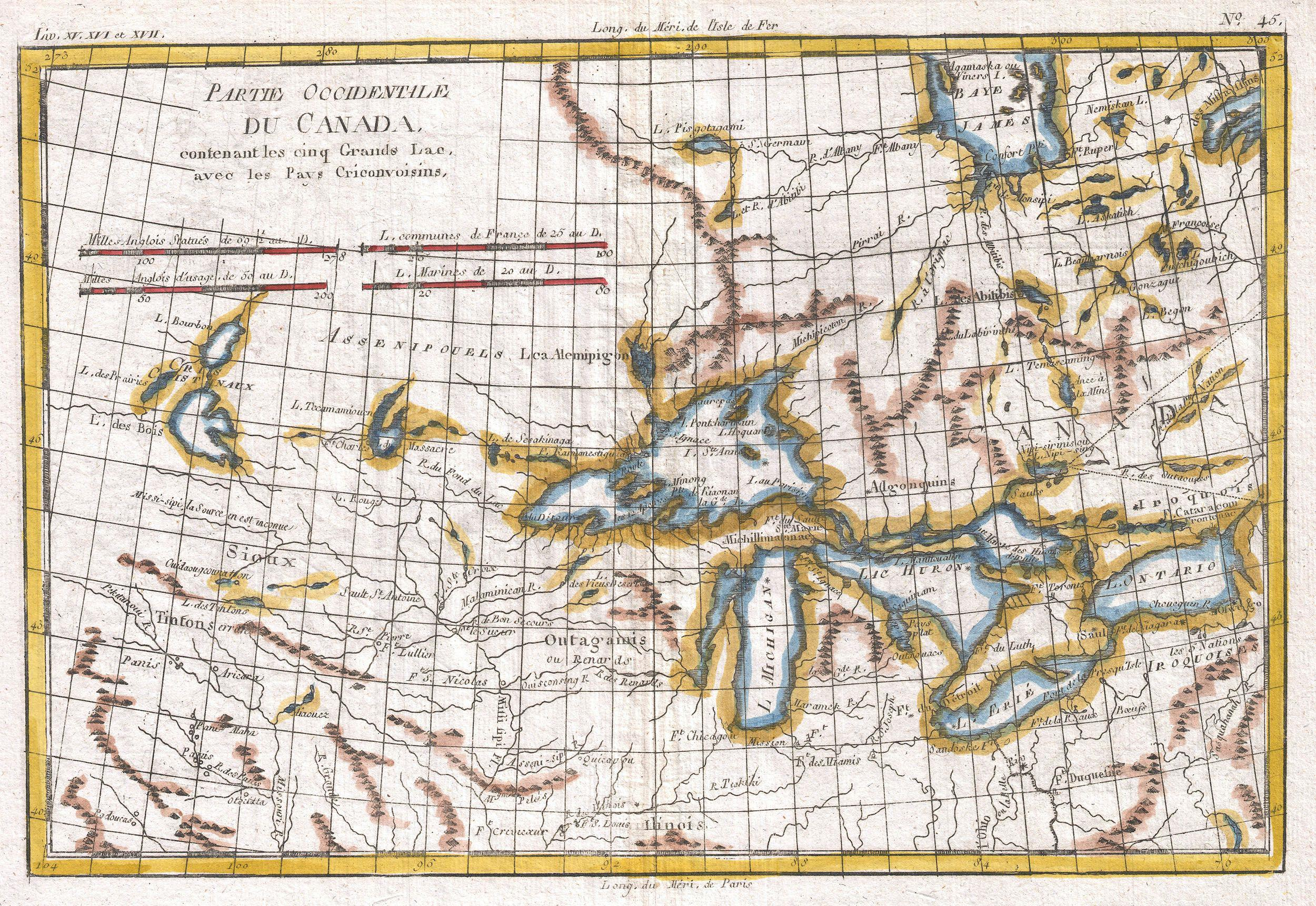 File Raynal And Bonne Map Of Great Lakes And Upper - Map of canada with great lakes