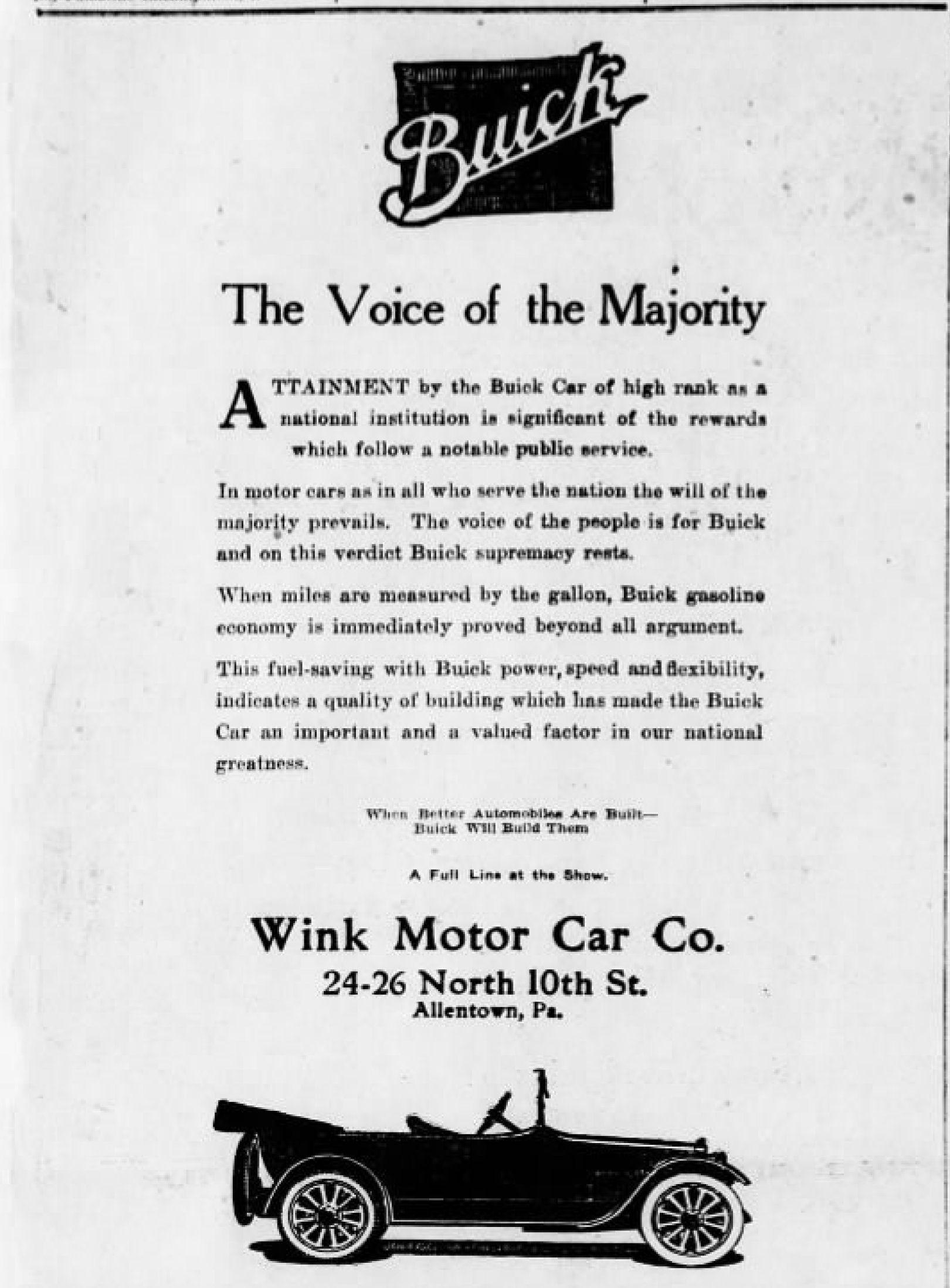File Wink Motor Car Company Newspaper Ad Allentown PAjpg - Car show allentown pa