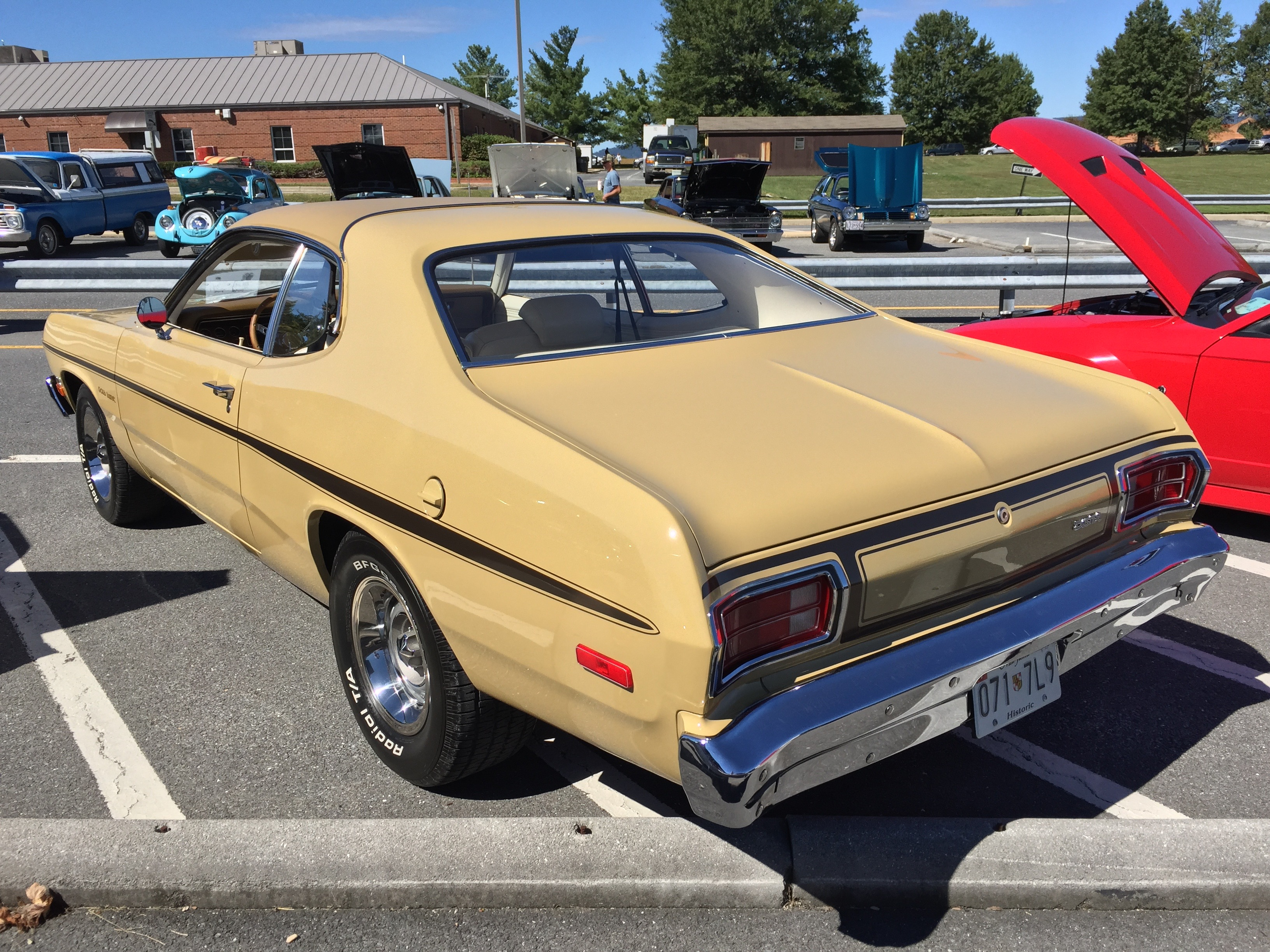 File 1974 Plymouth Gold Duster At Md Dmv 2015 Show 2of5
