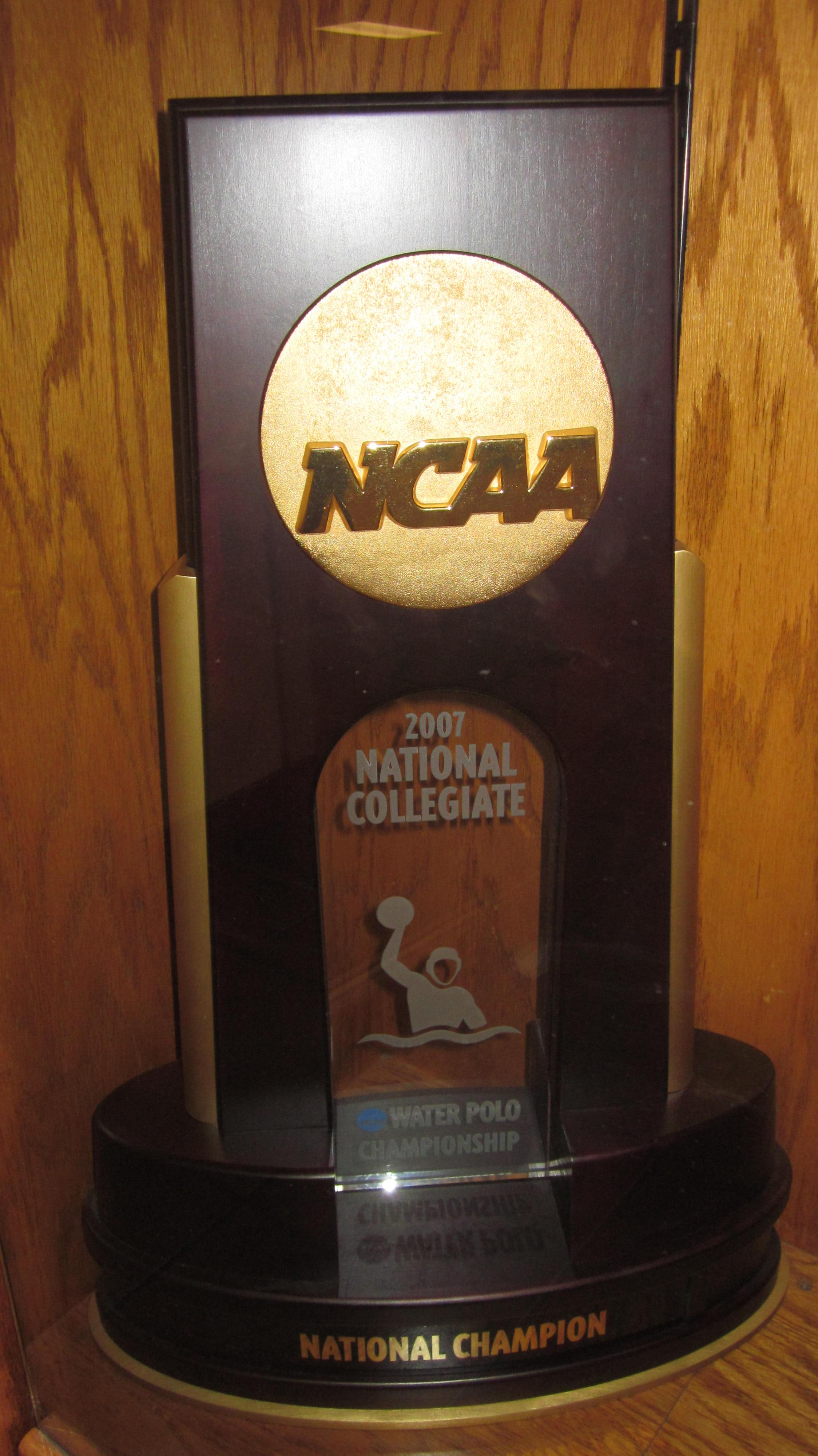File:2007 Cal men's water polo NCAA Championship trophy ...