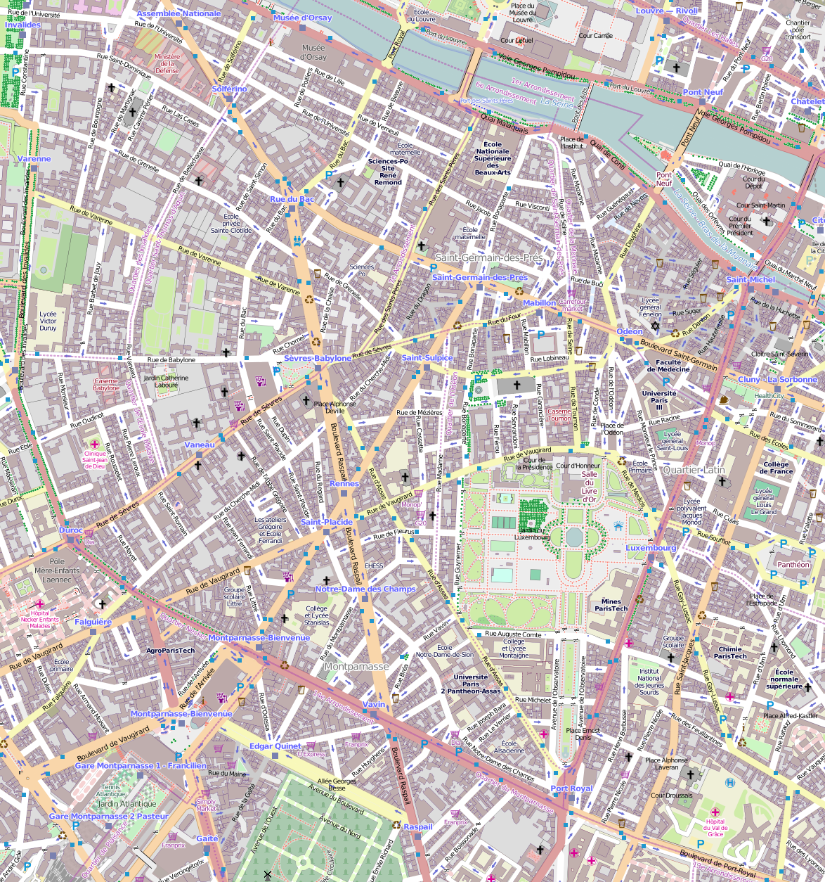 Map Of Paris France 6th Arrondissement.File 6e Arrondissement Paris France Open Street Map Png
