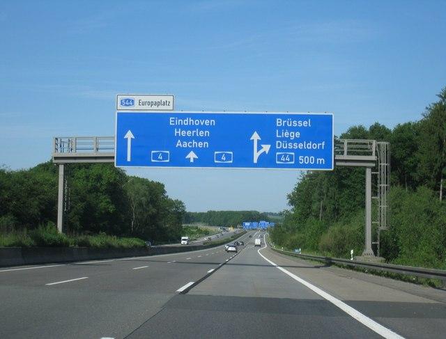A4 Richtung Aachen
