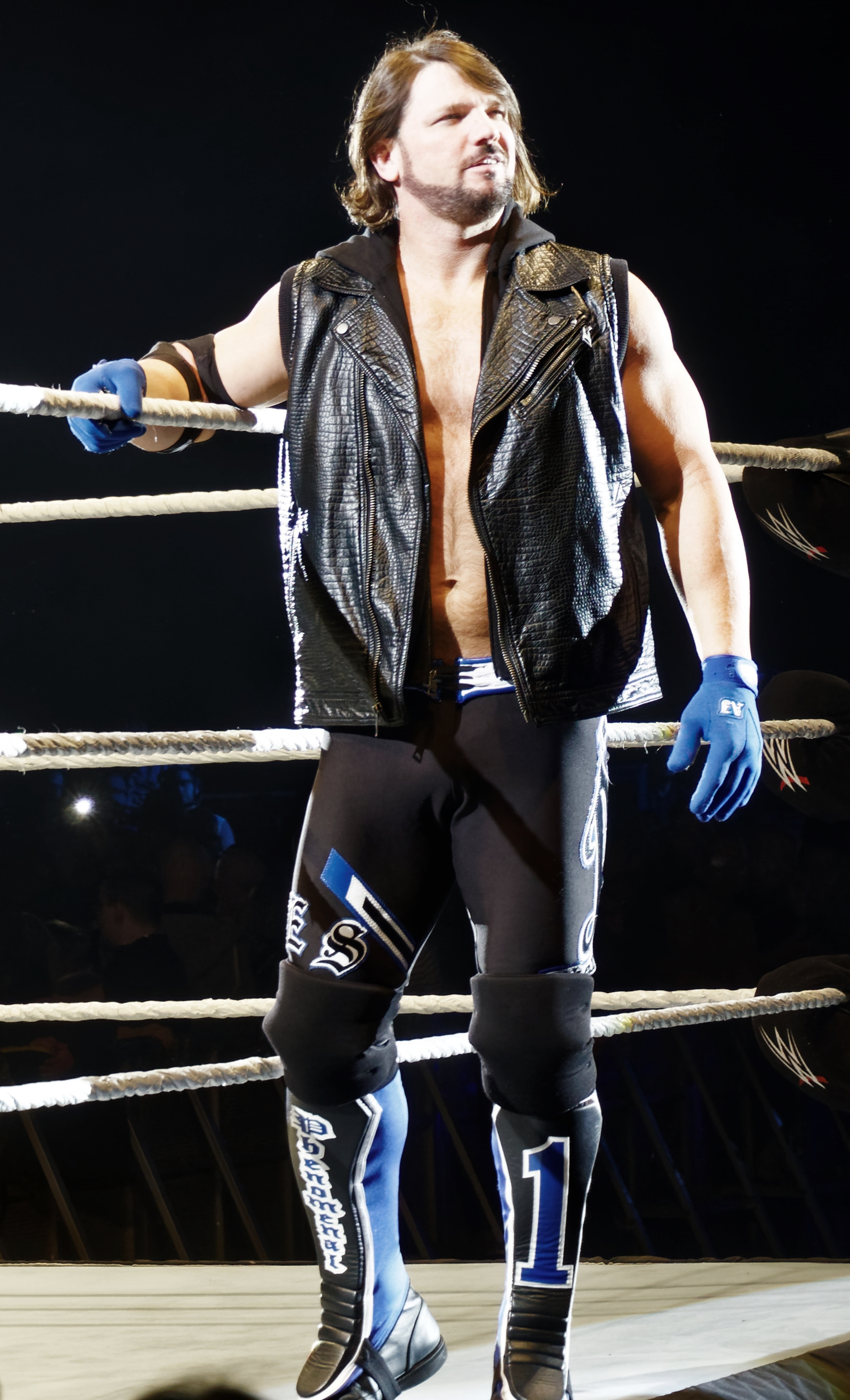 The 41-year old son of father (?) and mother(?) A.J. Styles in 2018 photo. A.J. Styles earned a  million dollar salary - leaving the net worth at 0.5 million in 2018