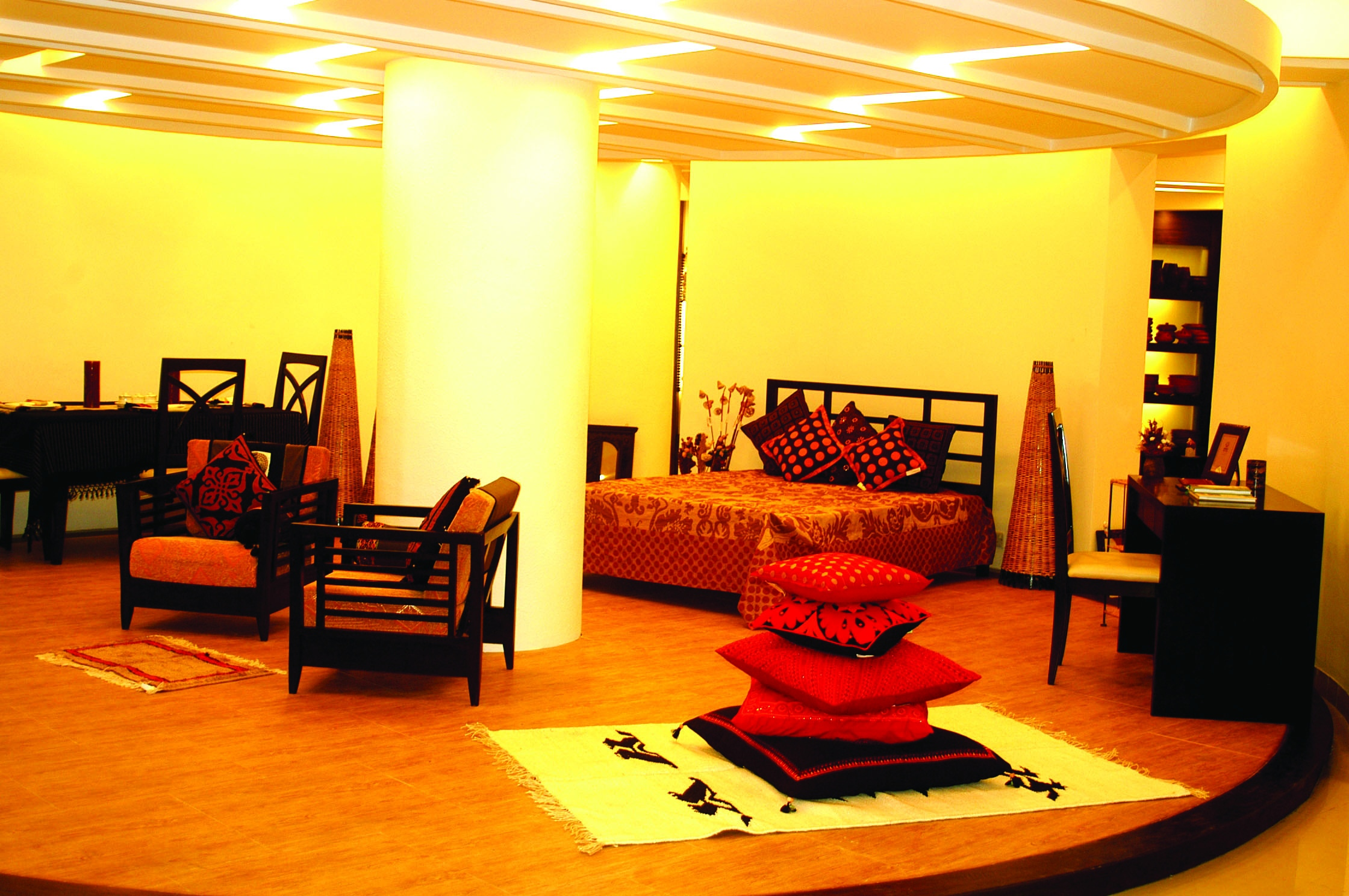 Aarong for Interior design of drawing room in bangladesh