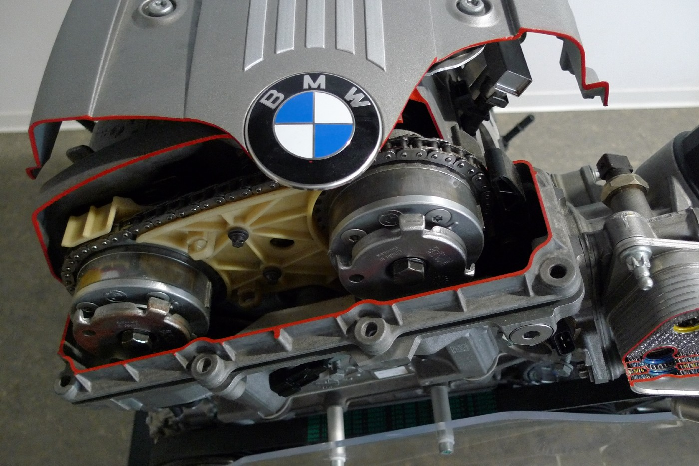 Bmw N53 Wikipedia N52 Crankshaft Sensor Wiring Diagram Double Vanos As Seen On An Engine