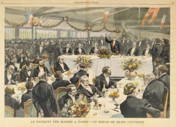 GRANDS DEBATS de Macron Banquet_des_maires_1900