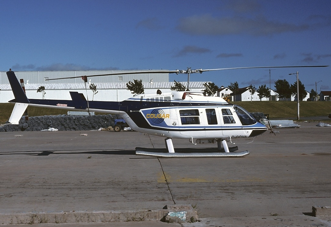 Canada - Prince Edward Island Aircraft type Bell 206L LongRanger Operator Cougar Helicopters Registration C-GCHA Type Photograph English: This