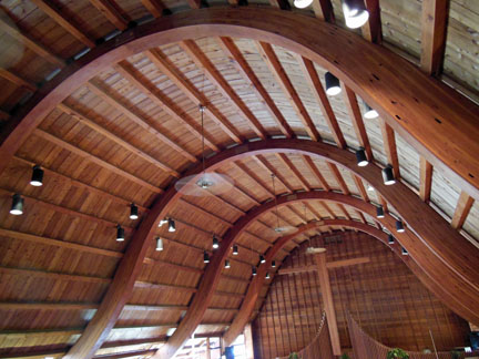 File Bell Curve Wooden Ceiling Church Of The