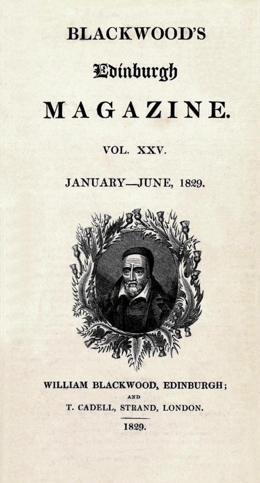 Blackwood's Edinburgh Magazine XXV 1829.jpg
