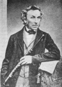 Theoblad Böhm ca 60 jaar - Naar hem is het Boehm mechaniek vernoemd