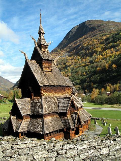 Borgund Stave Church in Norway [480x640]