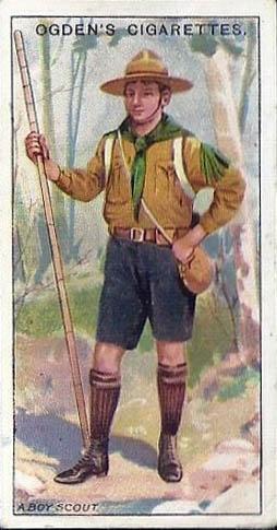 """A Boy Scout"" Boy Scout Cigarette Card"