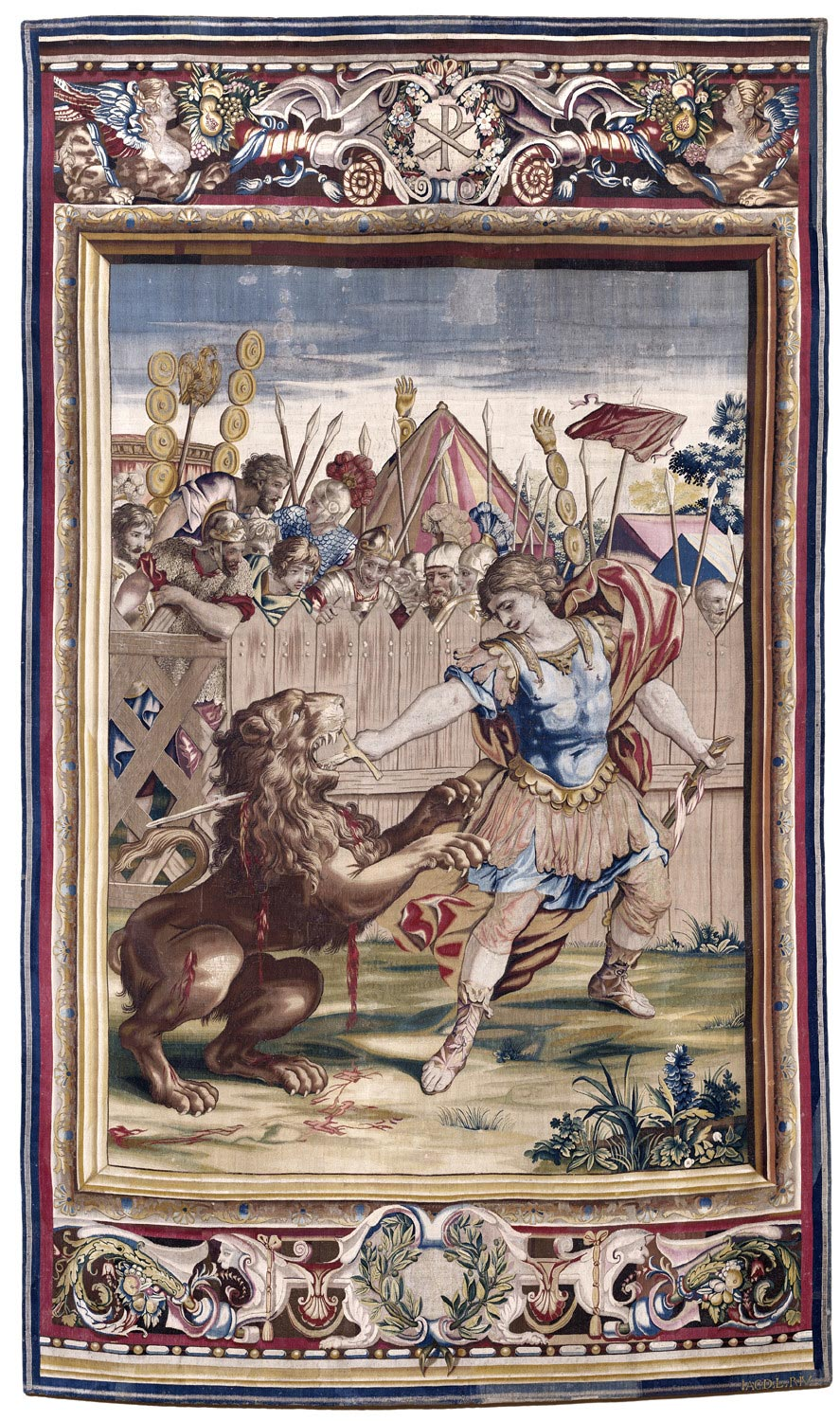 File:Constantine Slaying the Lion (tapestry) - 1637.jpg
