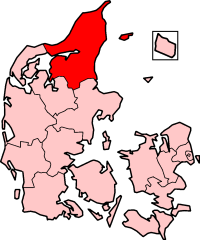 North Jutland County in Denmark
