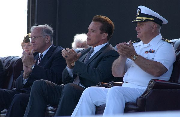 Military Pay Chart 2005: Dick Murphy Arnold Schwarzenegger and Ron Ritter 2005.jpg ,Chart