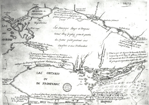 Early map of Lake Ontario