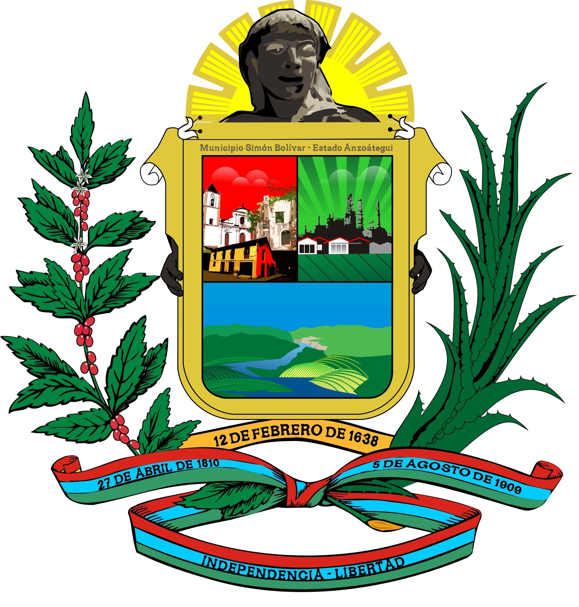 Simbolo Del Estado Bolivar | file escudo municipio sim 243 n bol 237 var estado anzo 225 tegui jpg wikimedia commons