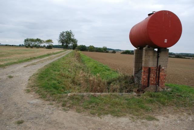 Farmers Gas Tank : File farm track fuel tank and drainage ditch geograph