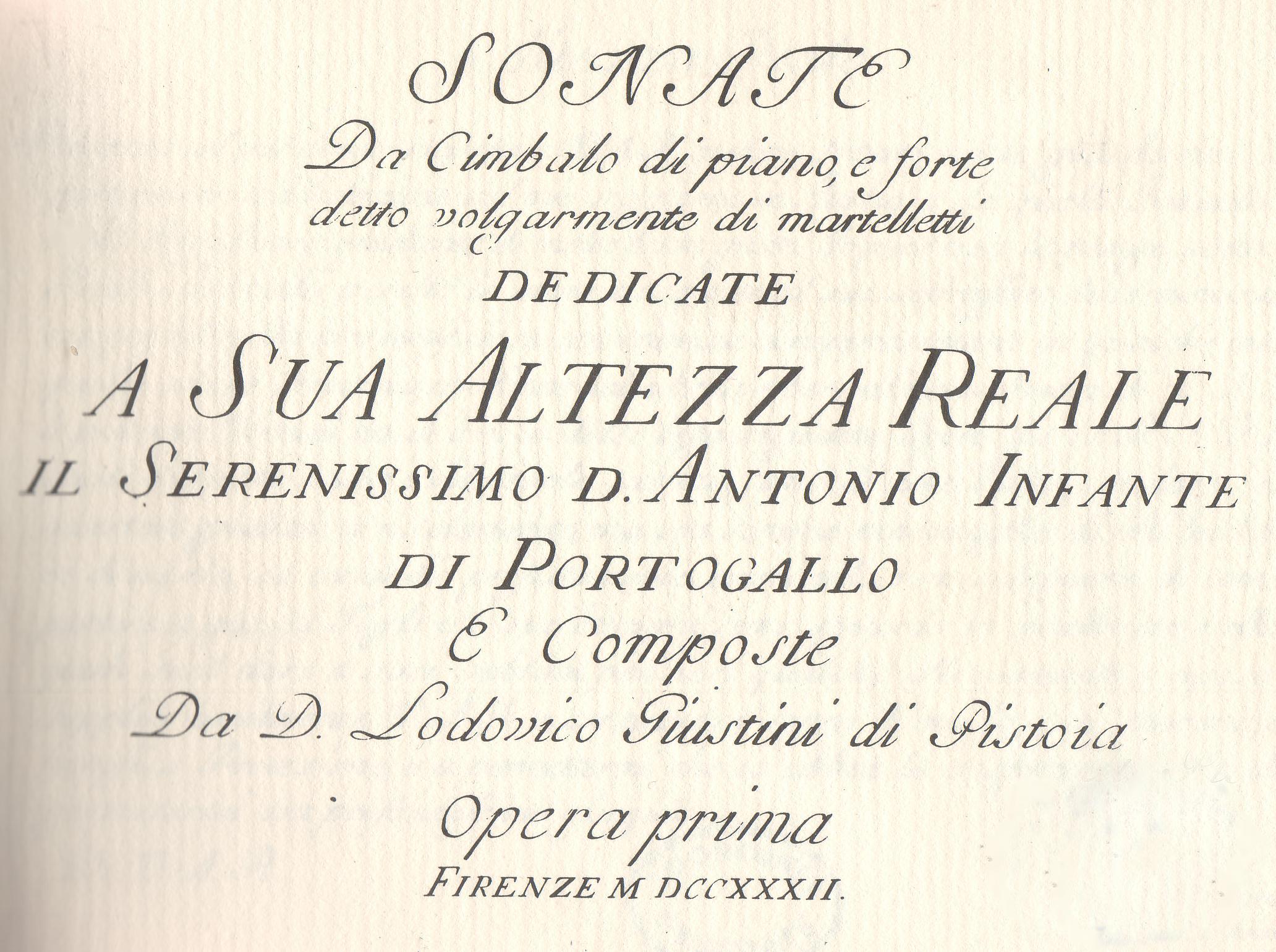 Giustini, Sonate