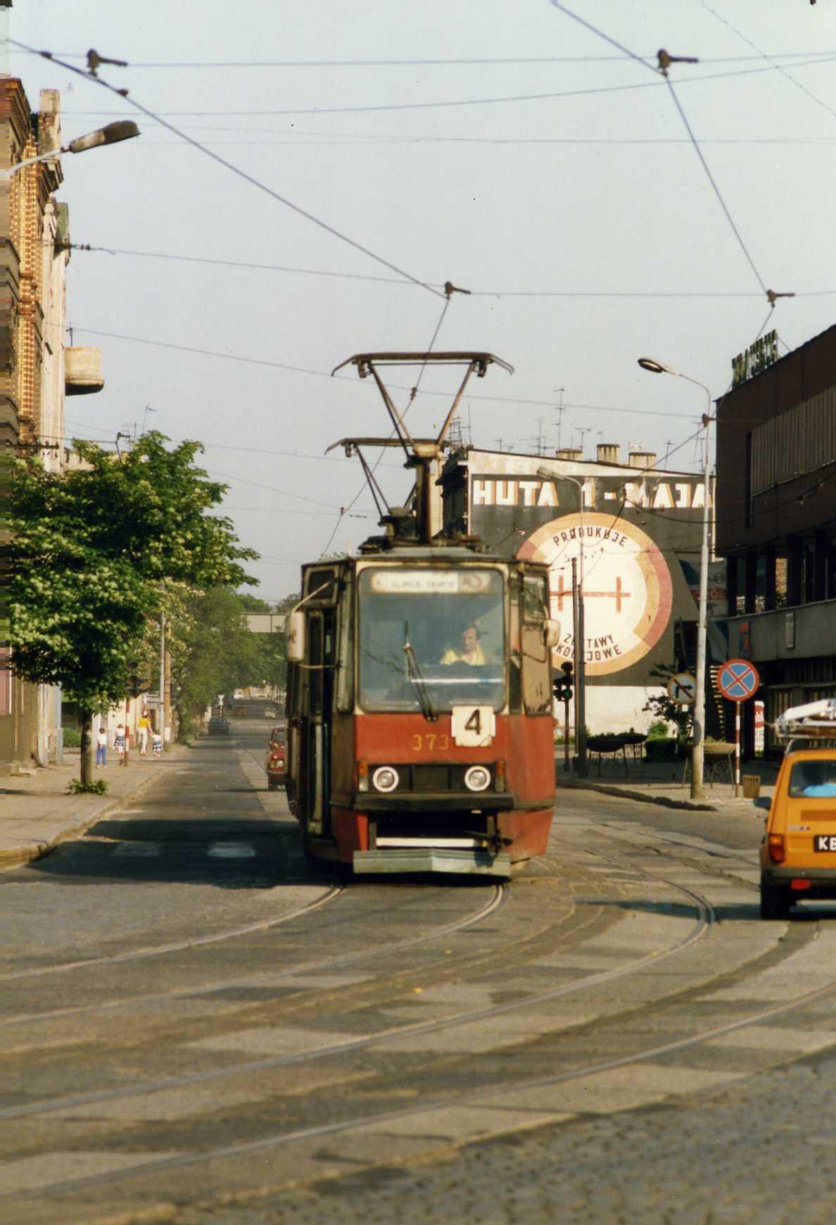 Gliwice Poland  city photos : Gliwice, Poland. Tramwaj w Gliwicach, Konstal nr 373, Linia 4 ...