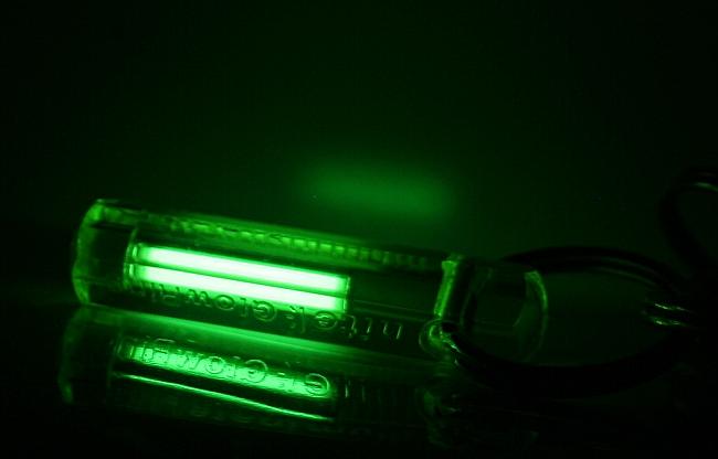 Tritiumgaslichtquelle als Schlüsselanhänger